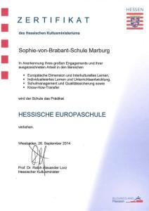 Zertifizierte Europaschule